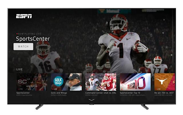Samsung's smart TVs are getting ESPN and Freeform