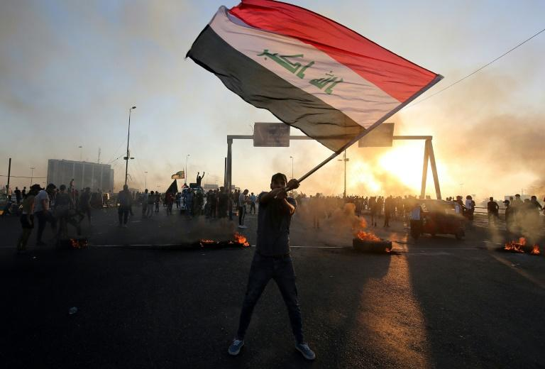 Protests shook Iraq for six days from October 1, with young Iraqis denouncing corruption and demanding jobs and services before calling for the downfall of the government (AFP Photo/AHMAD AL-RUBAYE)