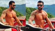 Gusttavo Lima tira onda e faz pose de galã em lancha luxuosa de R$1,6 milhão