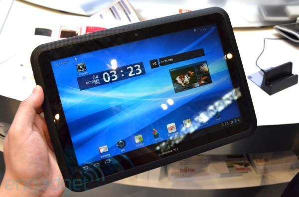Fujitsu Arrows Tab LTE F-01D with gesture control hands-on (video)