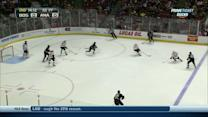 Mathieu Perreault gets one-timer past Rask