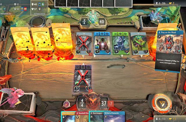Valve updates 'Dota' card game with open tournaments and chat options