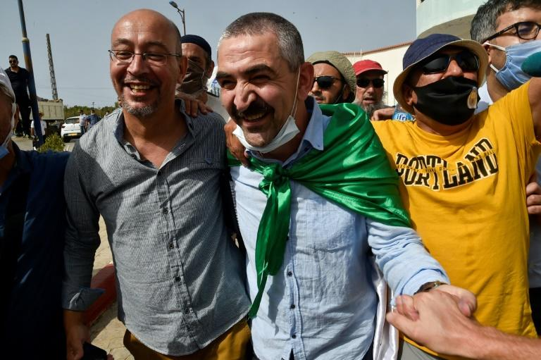 Samir Benlarbi is a media personality who had been held in preventive detention (AFP Photo/RYAD KRAMDI )