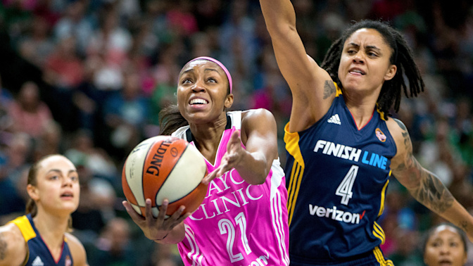 Lynx set WNBA record with lopsided win over Fever