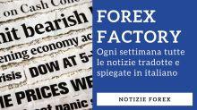 Le notizie di Forex Factory tradotte e spiegate ogni settimana