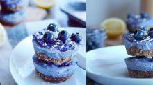 【內附食譜】增肌減脂人士都啱食!無蛋奶藍莓素芝士蛋糕