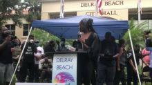 Tennis Star Coco Gauff Gives Emotional Speech at Delray Beach Rally