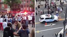 'Sick to my stomach': Terrifying moment New York police car rams into protesters