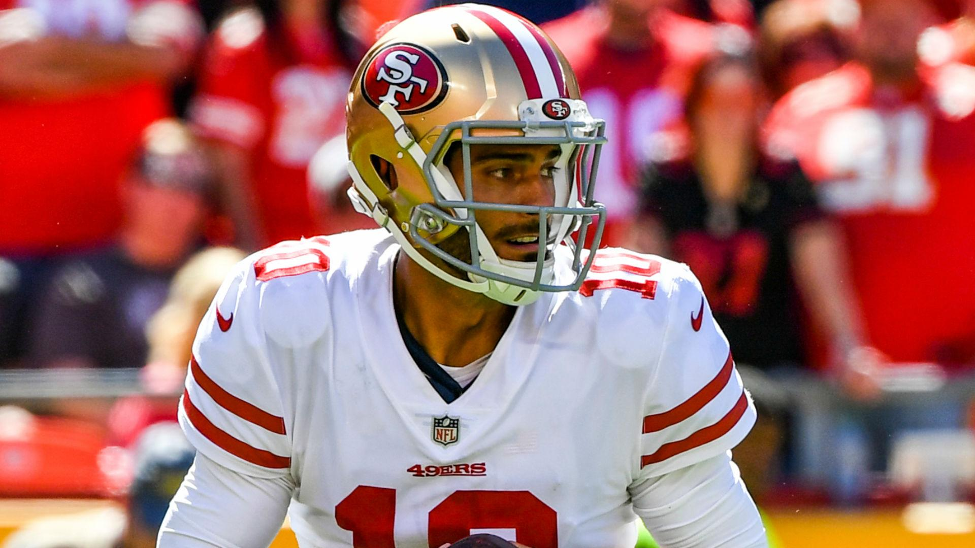 cc3ae7e0 49ers QB Garoppolo 'moving in the right direction'
