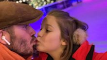 David Beckham criticised, again, for kissing daughter Harper on the lips