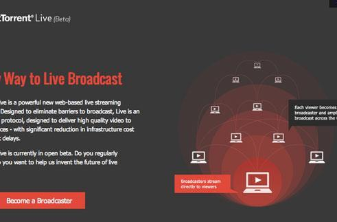 BitTorrent Live now in open beta, brings live webcasting to the masses