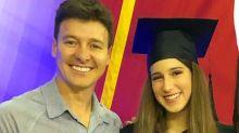 """Rodrigo Faro se emociona em formatura da filha: """"Muito orgulho"""""""