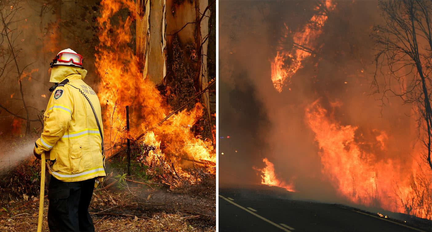 Boy, 9, ignites grass with blowtorch amid raging NSW bushfires - Yahoo News Australia