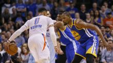 Drama overshadows blowout in Kevin Durant's 1st game back in OKC
