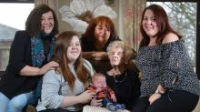 This family spans a whopping SIX generations, from 103 down to less than a month