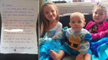'Struggling' mum-of-five brought to tears after stranger leaves meals for her children on doorstep