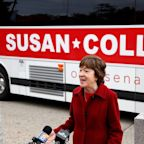 Collins on defensive at final debate, ducks Trump re-election question