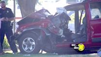 SUV crashes in SE Fresno, two injured