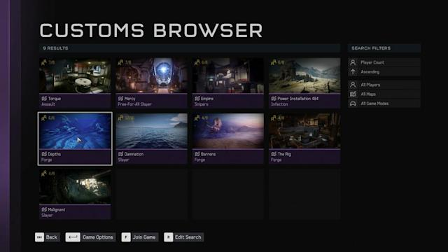 Join the perfect match in 'Halo 5' with the custom game browser