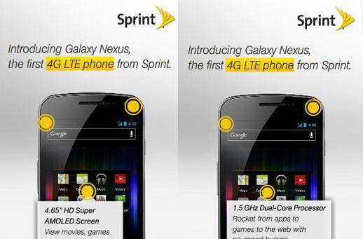 Galaxy Nexus coming to Sprint's LTE network? This ad says so.