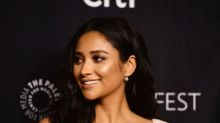 Shay Mitchell's nude avant-garde frock is pure post-modern perfection