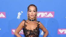 Rita Ora hits VMAs red carpet in see-through Jean Paul Gaultier dress