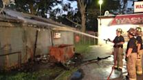 Dumpster fire damages club in NE Houston