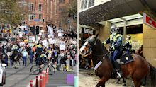 Two men charged with animal cruelty during Sydney lockdown protest