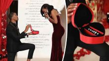Man proposes to girlfriend with six engagement rings