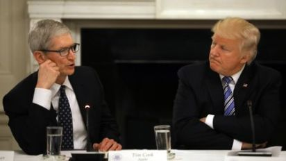 Apple's Cook says he disagrees with Trump, vows donations to rights groups