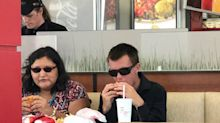 Fast food employee praised for treating blind couple 'with love'