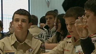 Boy, Girl Scouts Earn Their Merit Badges At Scouting University