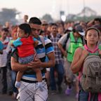 Migrant caravan reforms in Mexico after thousands make desperate journey from Guatemala across river