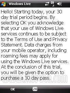 Update: Windows Live Mobile only a pay service on Nokia Series 60