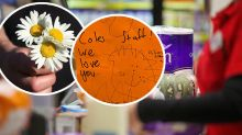 Stressed supermarket staff shown the love they deserve by kind customers
