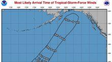 """En este mapa de NOAA con la trayectoria de la tormenta Walaka hay 100% de probabilidad de """"pene"""""""
