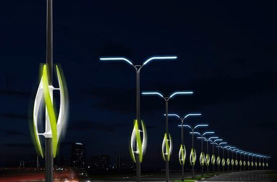 Eco shocker: Turbine Light concept uses wind to light highways