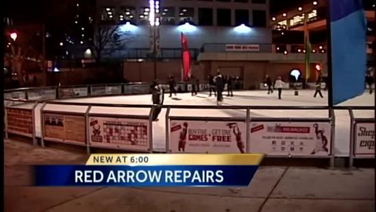 Warm temps close Red Arrow rink for now