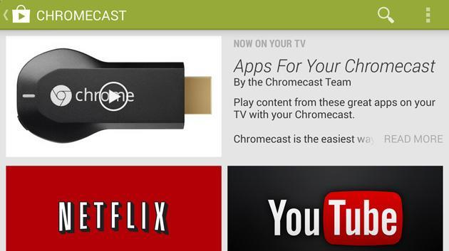 Google Play Store now highlights Chromecast-friendly Android apps