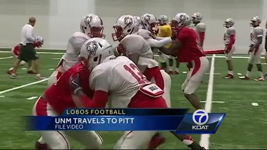 Lobos prepare to play Pitt Panthers at Heinz Field