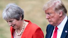 What's the story with President Trump's 'weird' handholding with Theresa May?