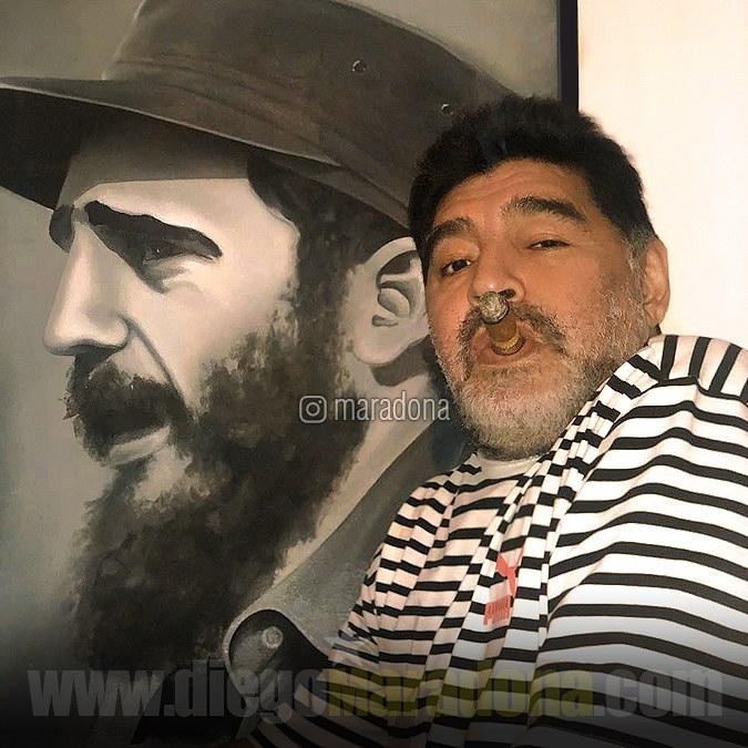 Maradona causa polémica al rendir tributo a Fidel Castro ...