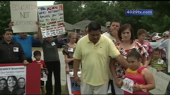 Local family rallies in the wake of a possible deportation