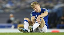 Everton's win over Salford comes at a cost as Jarrad Branthwaite suffers injury