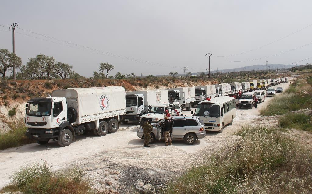 A Red Cross aid convoy was refused entry to Syria's Daraya (AFP Photo/Omar haj kadour)