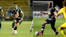 Raul x Fellipe Bastos: disputa aberta no meio-campo do Vasco