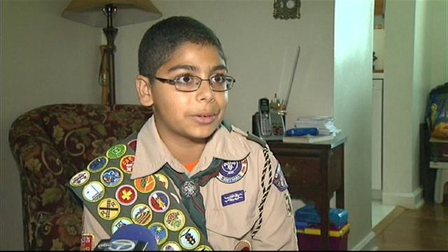 Boy Scout Brothers Share Badges of Honor