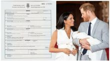 Archie's birth certificate reveals where Meghan gave birth