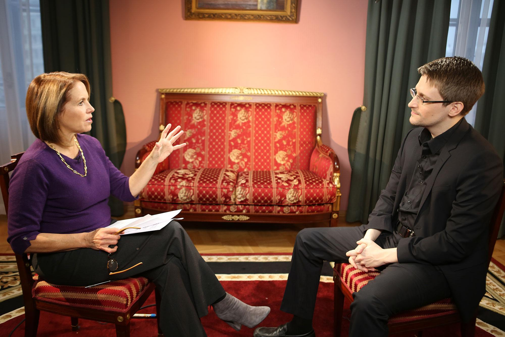 <p>Yahoo Yahoo Global News Anchor Katie Couric interviews Edward Snowden in Moscow on December 3, 2016. (Photo: Brad Williams/Yahoo News) </p>