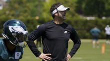 Eagles coach Nick Sirianni discusses day 1 of rookie minicamp